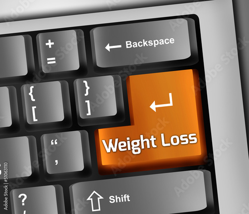 "Keyboard Illustration ""Weight Loss"""