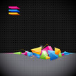 Background with colored geometric abstraction