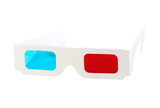 Red-blue paper glasses