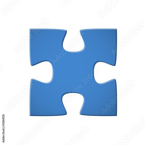 Puzzleteil blau