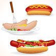 Hot Dog Illustrations.