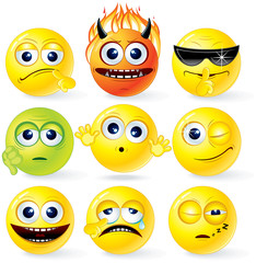 Cartoon Yellow Smileys