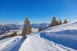 Mountains ski resort St. Gilgen Austria