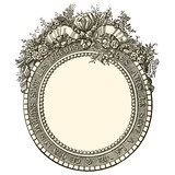 Antique flowers frame