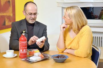 Beratungsgespräch zum Thema Brandschutz