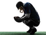 defeated american football player man silhouette