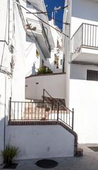 Calle de Frigiliana con escalera