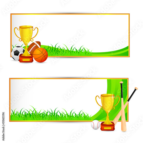 vector illustration of sports banner for soccer, basketball