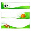 vector illustration of sports banner for soccer, basketball