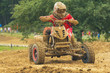 Quad motorbike in difficult terrain