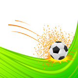 vector illustration of soccer ball against abstract background