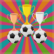 vector illustration of Soccer Ball with trophy