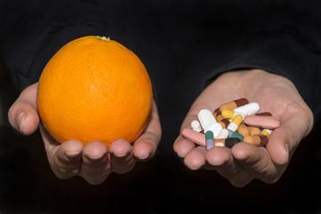 Orange Fruit And Pills