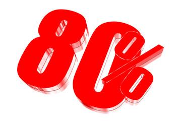 80 percent discount on three-dimensional