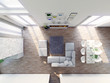 Modern, luxury Dining Room, birdview penthouse