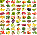 Fototapety Collection of fresh fruits and vegetables