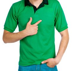 man in green uniforme