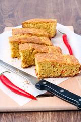 Chile cheese cornbread