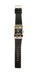 Neoprene strap minimalist square watch
