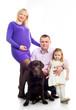 family with retriver