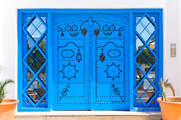 Ornamental Blue Doors.