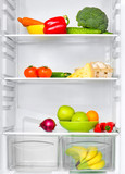 refrigerator with vegetables