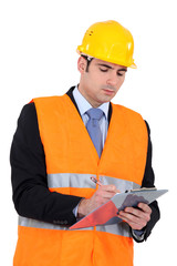 businessman on a construction site