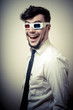 businessman with 3d eyewear