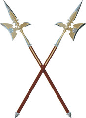 Two crossed halberds