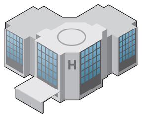Hospital icon, medical icon