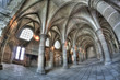 Abbaye Du Mont-Saint-Michel - Salle des chevaliers - Hdr Fisheye