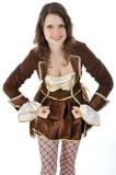 Junge Frau im Karnevals-Kostüm