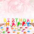 leckerer bunter Geburtstagskuchen