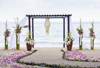 Wedding on the beach .