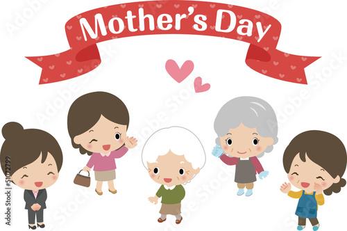 母の日のお母さんたち