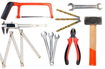 collage einiger werkzeuge