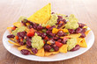nachos with vegetables