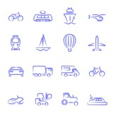 Transport contour icons
