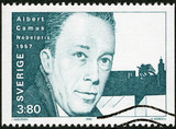 SWEDEN - 1990: shows Albert Camus, Nobel Laureate in Literature