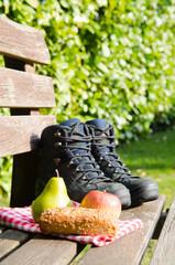 picknick bei einer wanderung