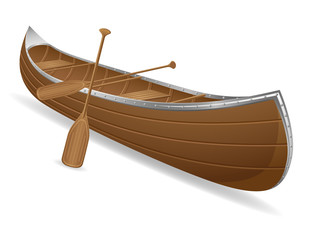 canoe vector illustration