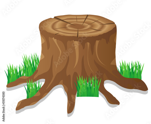 stump vector illustration