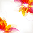 Abstract orange flowers