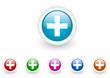 emergency vector glossy web icon set