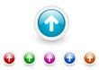 arrow up vector glossy web icon set