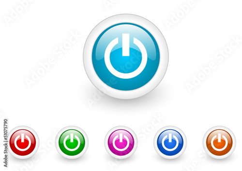 power vector glossy web icon set