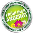 """Button """"Frühlingsangebot"""" grün/silber"""