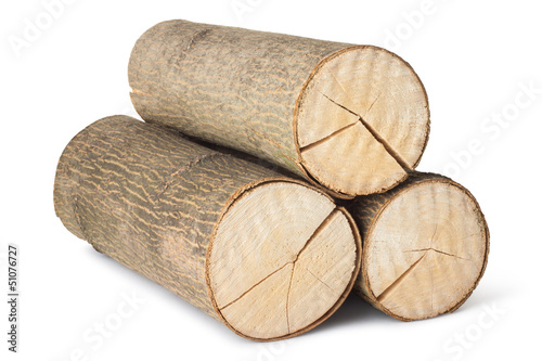 Heap of three logs
