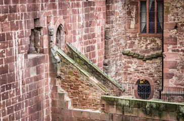 Detail of Heidelberg Castle in Germany