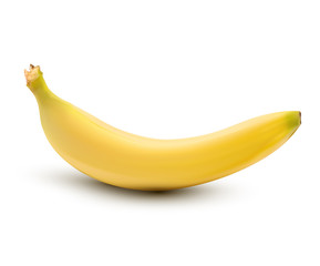 vector a banana on white background
